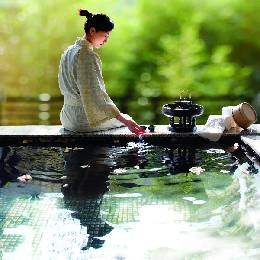 【高雄】花季度假飯店-《玉蘭軒•映月湯屋》120分泡湯券