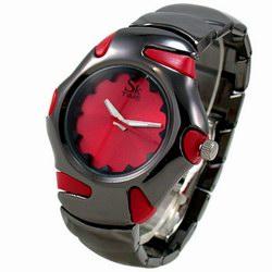 【运动曲线】炫面钨钢表/红