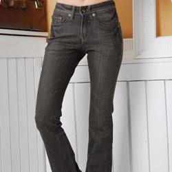8110石头纽扣特色刷色牛仔裤 黑s